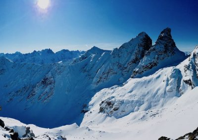 Aiguille de l'épaisseur en ski de randonnée