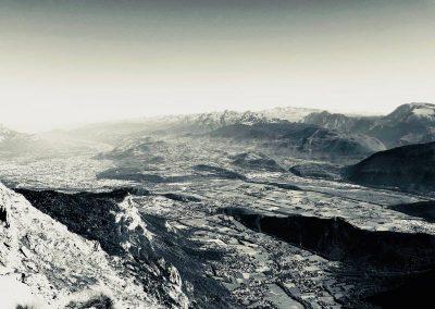Vue de Grenoble depuis les arrêtes du vercors