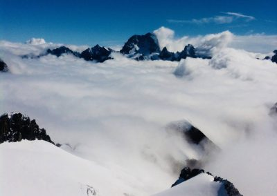 Mer de nuage avec la barre des Ecrins