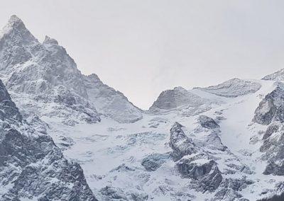 La grave, alpinisme, temple du ski libre