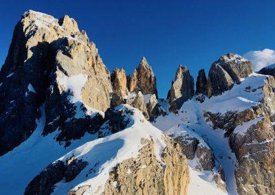 raid à skis en italie