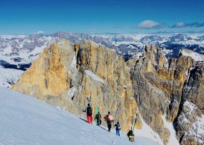 raid à ski en italie