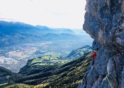 Escalade au Rocher du midi en Chartreuse