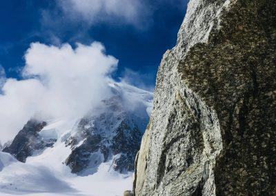 L'arête des cosmiques avec un guide de haute montagne