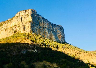 Le rocher de Presles, grandes voies d'escalade