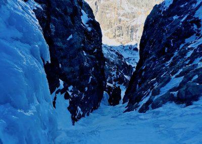 Couloirs à la Grave encadré par un guide de haute Montagne
