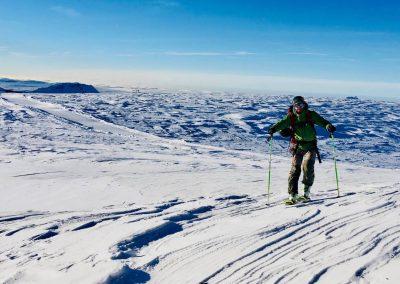 Montée de la Grave en ski de randonnée