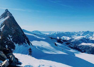 Ski de randonnée à la Grave avec un guide de haute montagne