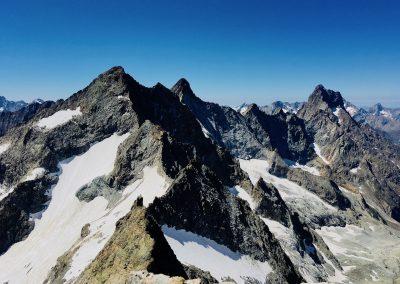 Stage Alpinisme raphael wagon guide vue depuis tête du replat