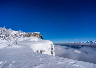 Skis de randonnée dans le vercors