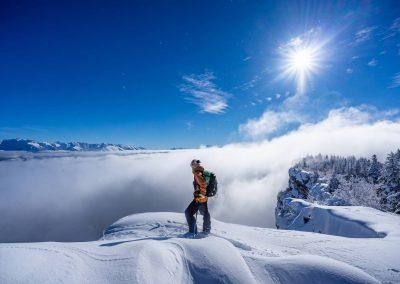 Ski de randonnée dans le vercors avec le guide Raphaël Wagon