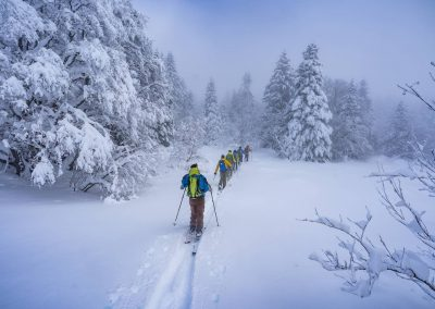 Sortie en skis de randonnée dans le vercors
