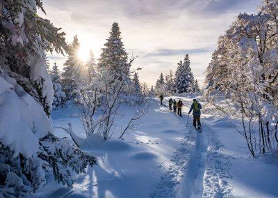 Sortie en skis de randonnée dans le vercors avec un guide