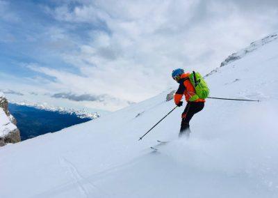La descente à ski