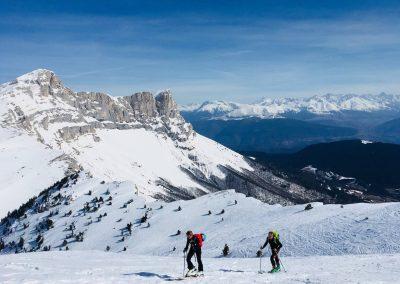Ascension en ski de randonnée dans le vercors
