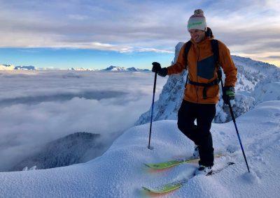 Raphaël Wagon guide de haute montagne sur les arrêtes du vercors