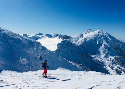 Ski de randonnée dans le vercors au dessus de corrençon en vercors